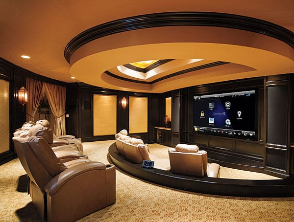 Hollywood Park Audio Visual San Antonio Av Company Home Theater Installation